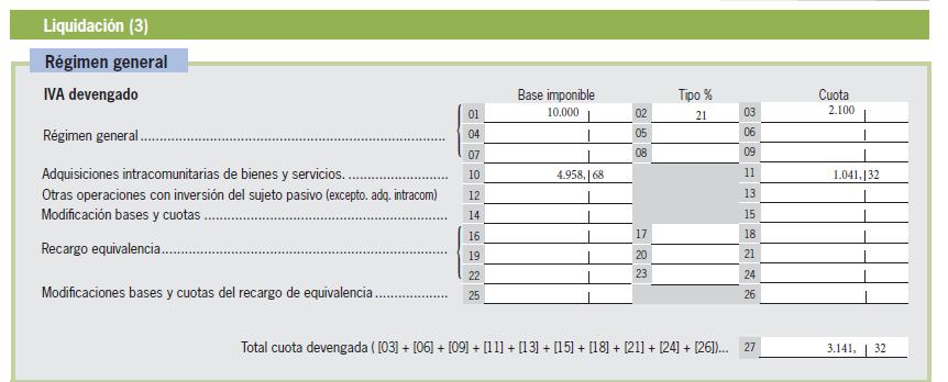 modelo 303- Adquisiciones intracomunitarias