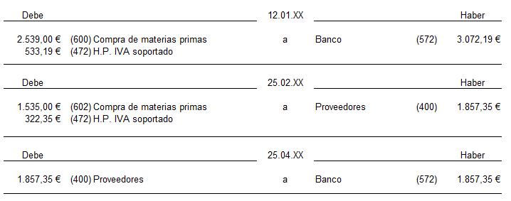 Compras de existencias- caso practico 1