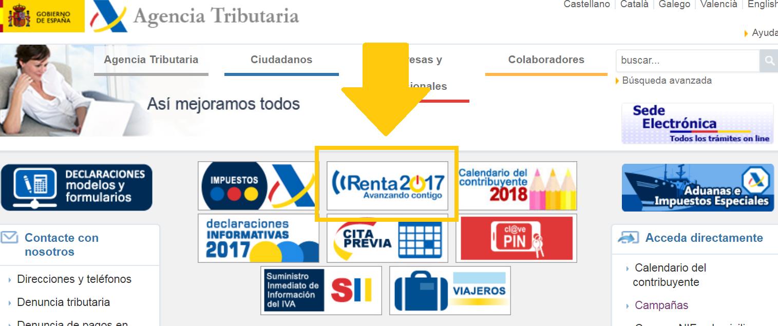 Renta 2017 Agencia Tributaria