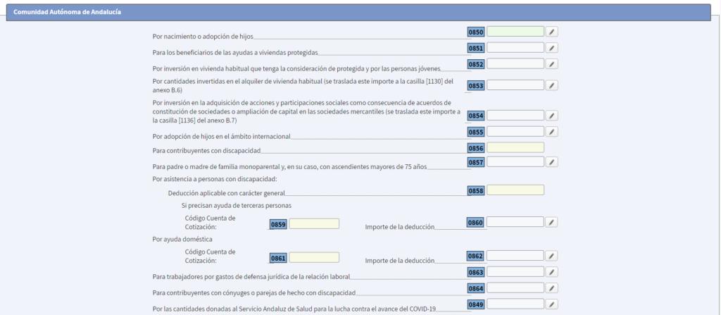 Deducciones Andalucía Renta 2020