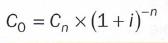 formula valor actual